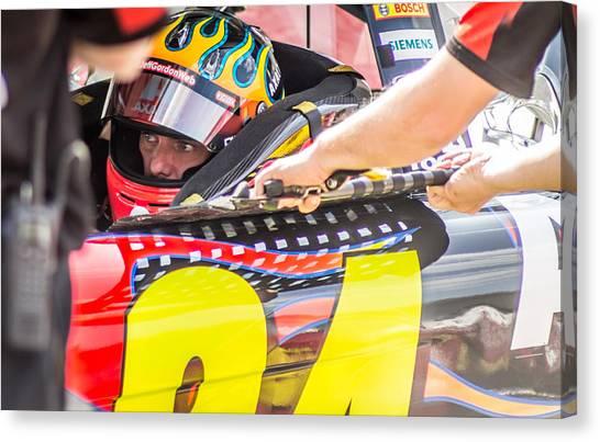 Jeff Gordon Canvas Print - The Racers Stare by Alex Cianfarani