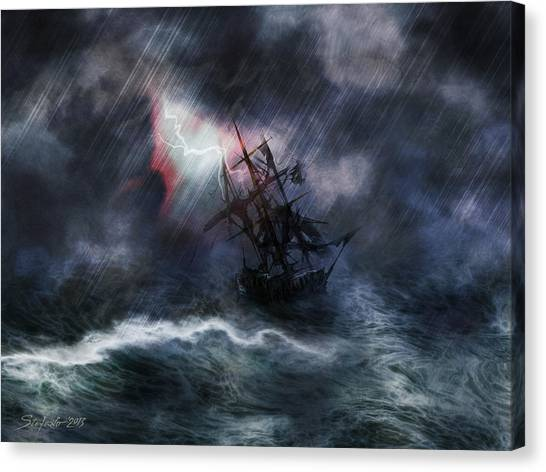 The Rage Of Poseidon II Canvas Print