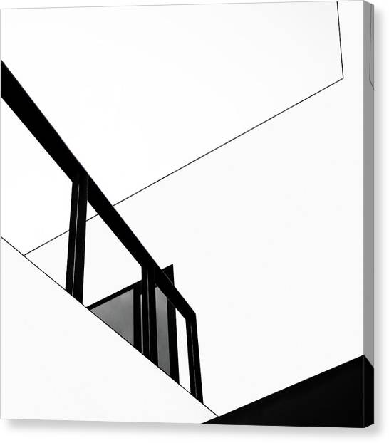 Modern Architecture Canvas Print - The Railing by Gilbert Claes