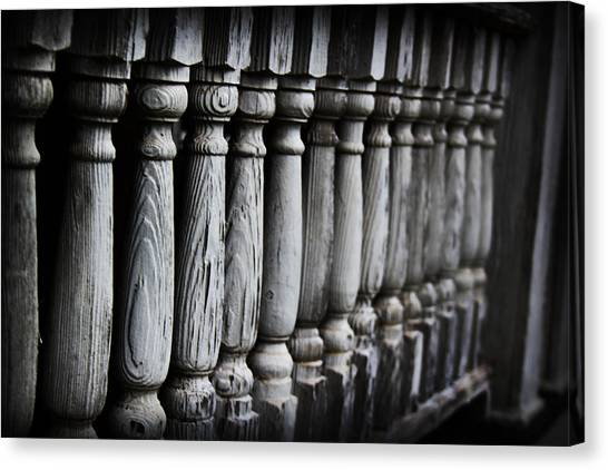Canvas Print featuring the photograph The Railing by Kelly Hazel
