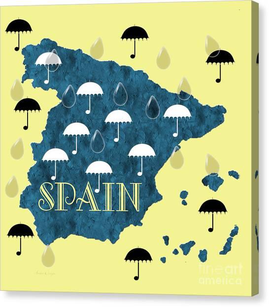 Rain Canvas Print - The Rain In Spain by Andee Design