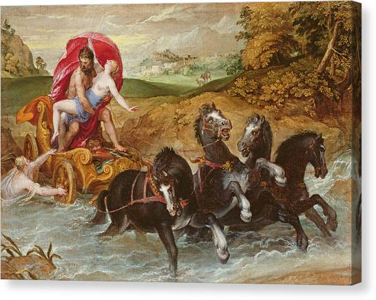 Pluto Canvas Print - The Rape Of Proserpine, C.1573 by Christoph Schwartz or Schwarz