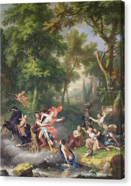 Pluto Canvas Print - The Rape Of Proserpine by Jan van Huysum