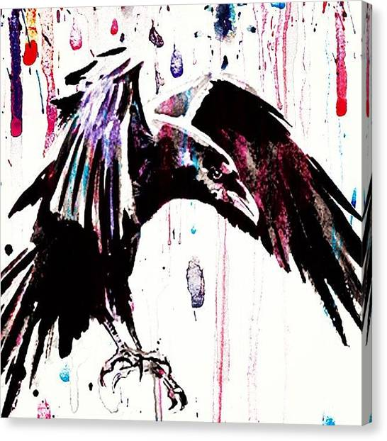 Ravens Canvas Print - The Raven... #black #bird #raven #crow by Mr Jeremy