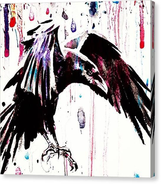 Ravens Canvas Print - The Raven... #black #bird #raven #crow by Mr Jeremy