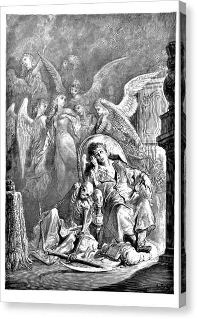 Raven Canvas Print - The Raven Edgar Allan Poe Illustration by