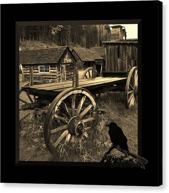 The Raven Flies Straight Canvas Print