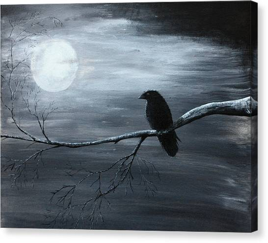 The Raven Piece 2 Of 2 Canvas Print