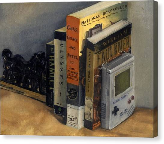 Gameboy Canvas Print - The Reading List by Rick Liebenow