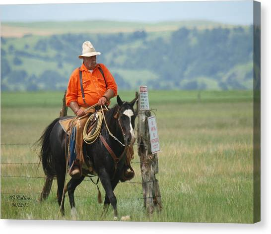 The Real Cowboy Canvas Print
