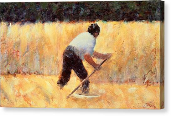 The Metropolitan Museum Of Art Canvas Print - The Reaper by Georges Seurat