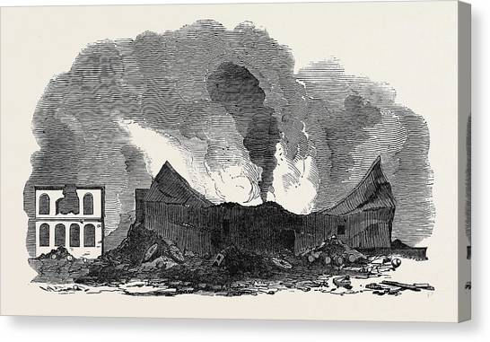Starkey Canvas Print - The Recent Fire At San Francisco by English School