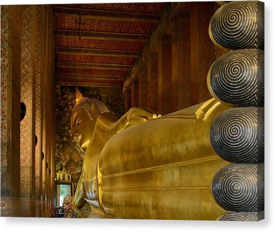 The Reclining Buddha Canvas Print
