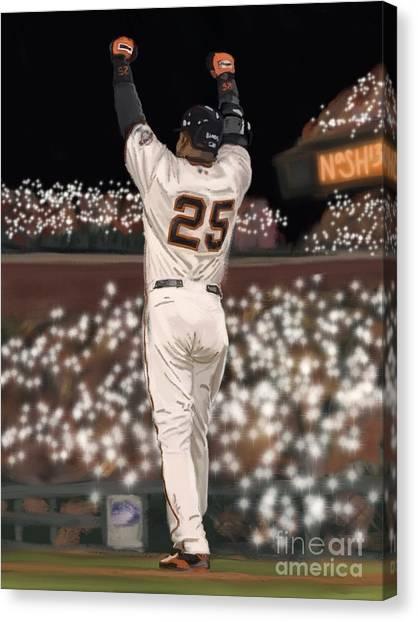 San Francisco Giants Canvas Print - The Record by Jeremy Nash