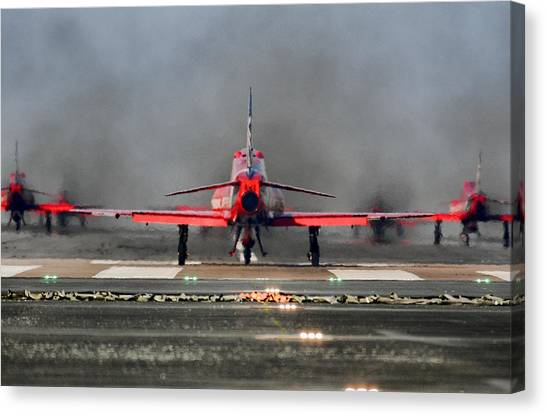 The Red Arrows Canvas Print by James Lucas