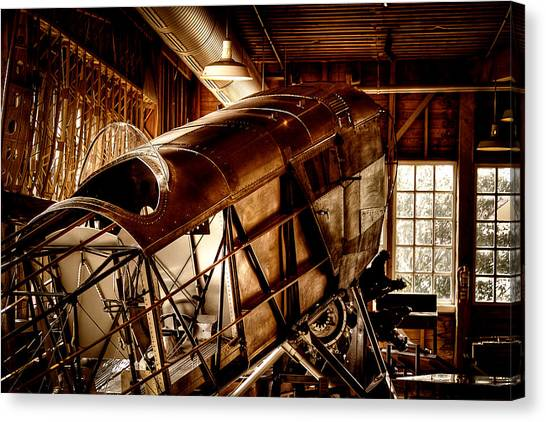 The Red Barn Of The Boeing Company II Canvas Print