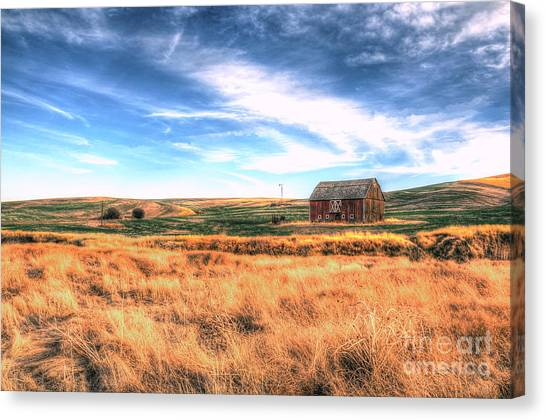 The Red Barn Canvas Print