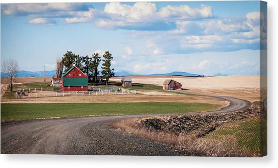 The Red Barn Canvas Print by Stephen Beaumont