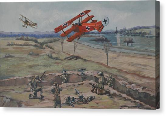 The Red Baron's Last Combat Canvas Print