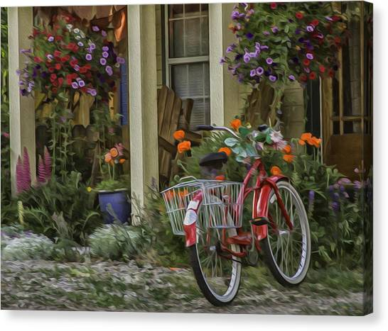 The Red Bike Canvas Print