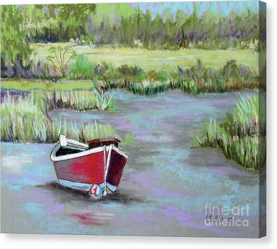 The Red Boat Chronicle  Canvas Print