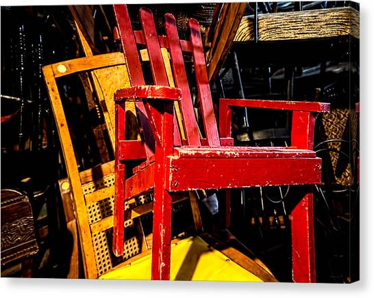 The Red Chair Canvas Print