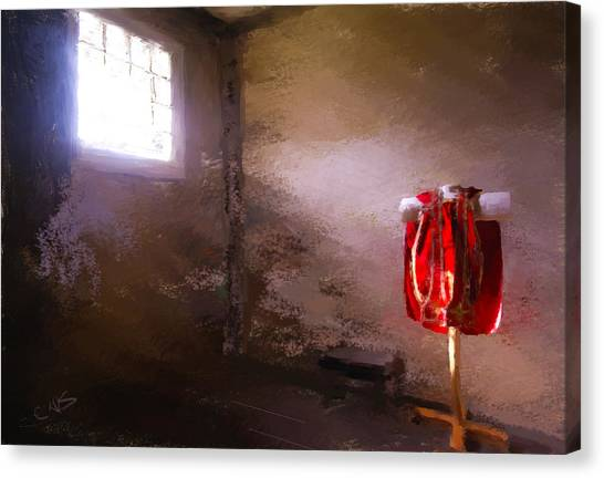 The Red Cloth Canvas Print