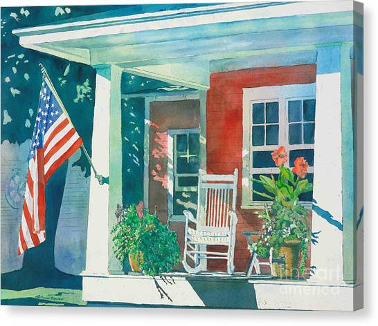 The Red Cottage Canvas Print