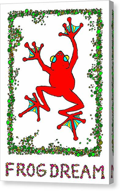 The  Red  Frog   Canvas Print by Hartmut Jager
