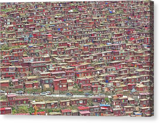 Crowd Canvas Print - The Red House by Selinos