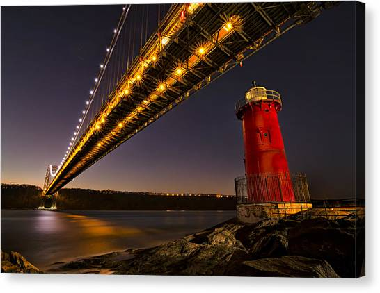 The Red Little Lighthouse Canvas Print