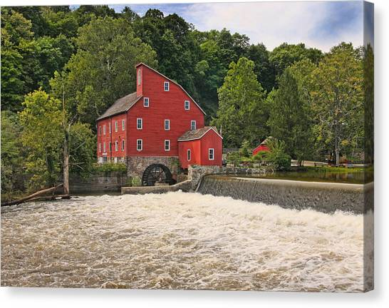 The Red Mill The Day After Irene Canvas Print