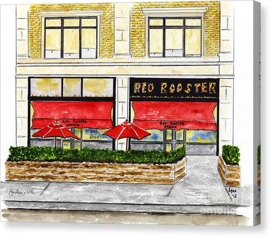 The Red Rooster Canvas Print