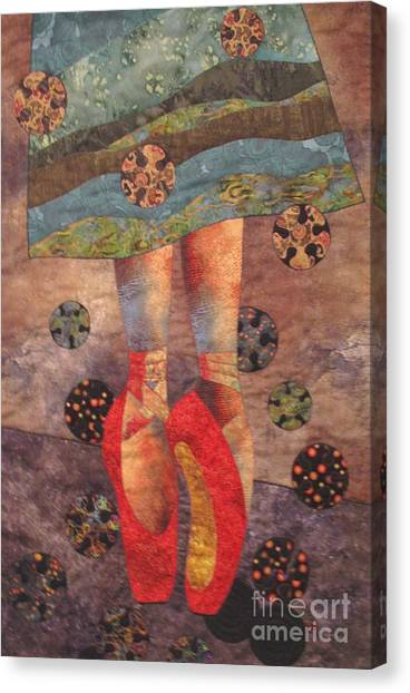 The Red Shoes Canvas Print by Lynda K Boardman