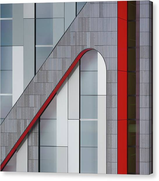 Modern Architecture Canvas Print - The Red Thread by Greetje Van Son