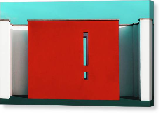 The Red Wall Canvas Print by Inge Schuster
