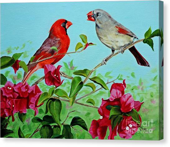The Redbirds Canvas Print