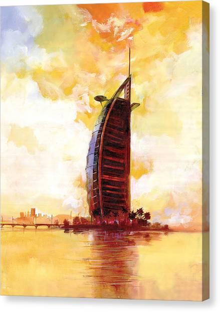 Dubai Skyline Canvas Print - The Reflection 3  by Art Tantra