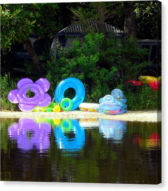 The Reflection Of Fun Canvas Print