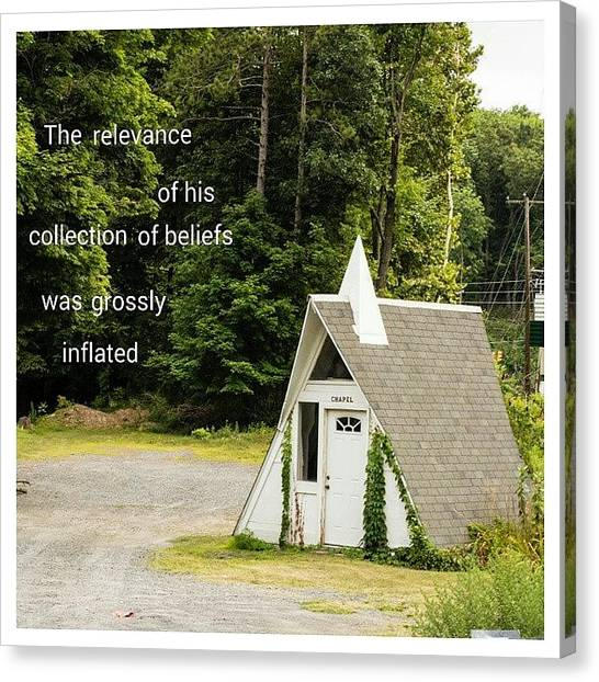 Atheism Canvas Print - The Relevance Of His Collection Of by Matthew Saindon