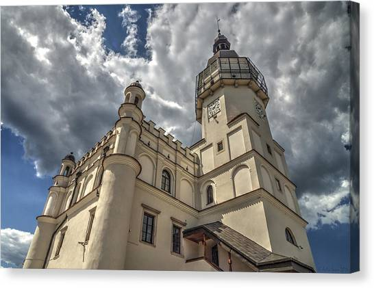 The Renaissance Town Hall In Szydlowiec In Poland Seen From A Different Perspective Canvas Print