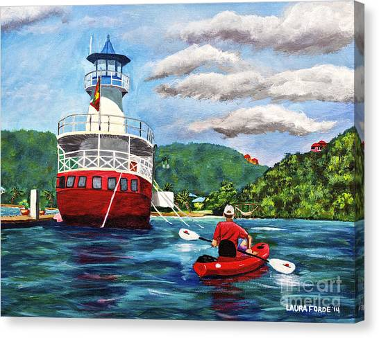Out Kayaking Canvas Print