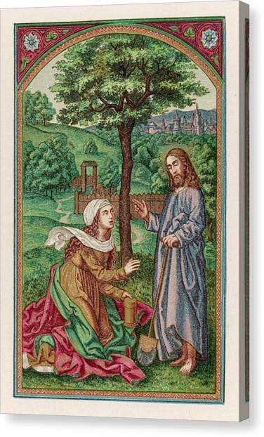 Resurrected Canvas Print - The Resurrected Jesus Reveals  Himself by Mary Evans Picture Library