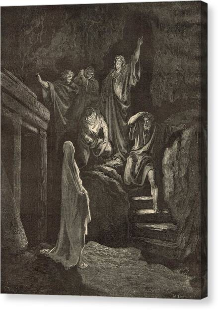 The Resurrection Of Lazarus Canvas Print by Antique Engravings