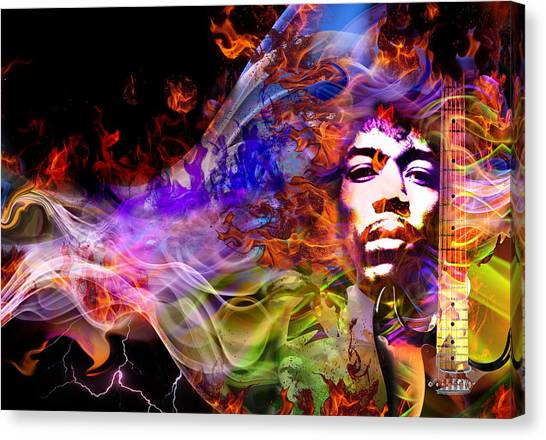 The Return Of Jimi Hendrix Canvas Print