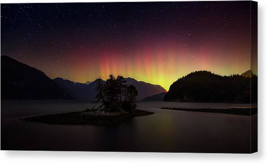 Vancouver Island Canvas Print - The Return Of The Aurora Borealis by Alexis Birkill