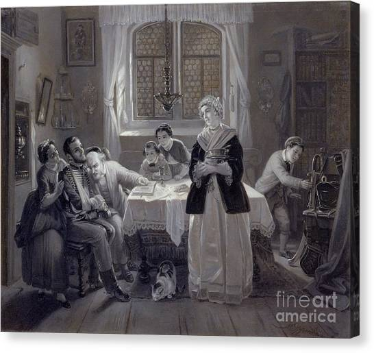 Torah Canvas Print - The Return Of The Jewish Volunteer by Celestial Images