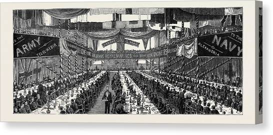 Royal Marines Canvas Print - The Return Of The Soldiers And Sailors From Egypt Banquet by Egyptian School
