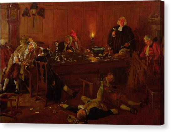 Unconscious Canvas Print - The Reverend Geoffrey Shovel, Chaplain by Thomas Davidson