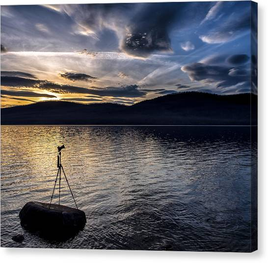 Lake Sunsets Canvas Print - The Right Moment by Aaron Aldrich